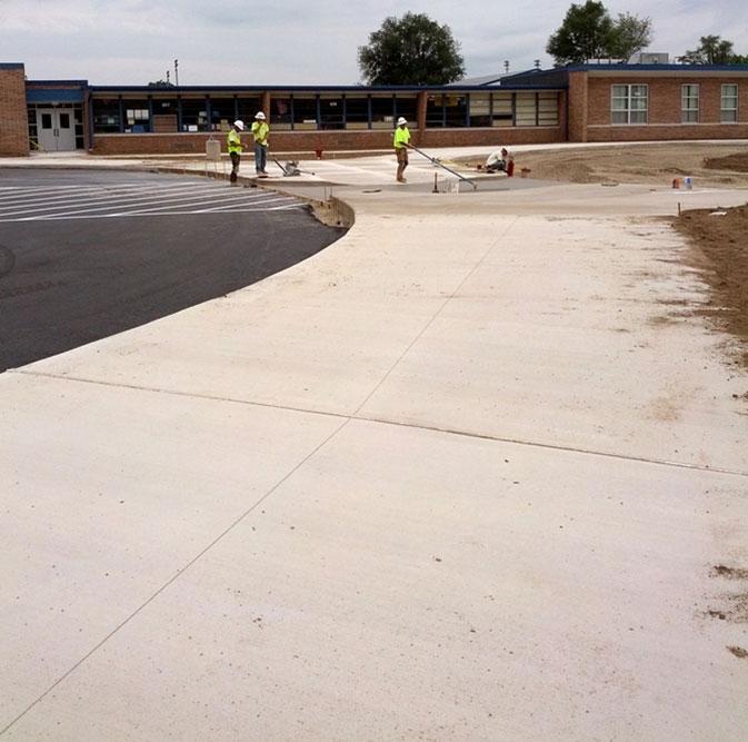 Columbia School District concrete sidewalks by Moore Trosper Construction