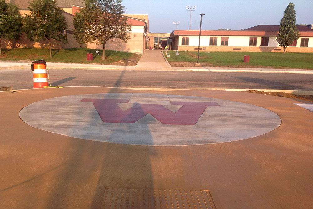 Western School District - concrete services by Moore Trosper Construction